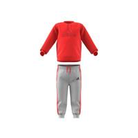 tekstylia Dziecko Komplet adidas Performance MH LOG JOG FL Czerwony / Szary