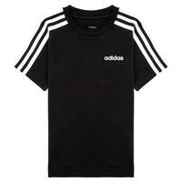 tekstylia Chłopiec T-shirty z krótkim rękawem adidas Performance YB E 3S TEE Czarny