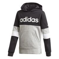 tekstylia Chłopiec Bluzy adidas Performance YB LIN CB HD FL Czarny / Szary