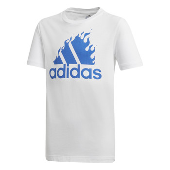 tekstylia Chłopiec T-shirty z krótkim rękawem adidas Performance JB BOS GRAPH Biały