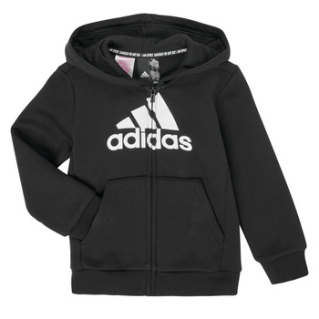 tekstylia Chłopiec Bluzy adidas Performance B MH BOS FZ FL Czarny