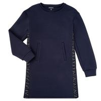tekstylia Dziewczynka Sukienki krótkie Emporio Armani 6H3A07-1JDSZ-0920 Marine