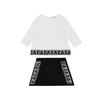 tekstylia Dziewczynka Komplet Emporio Armani 6HEV08-3J3PZ-0101 Biały / Czarny
