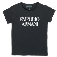 tekstylia Dziewczynka T-shirty z krótkim rękawem Emporio Armani 8N3T03-3J08Z-0999 Czarny