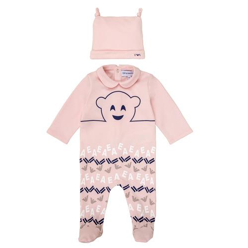 tekstylia Dziewczynka Piżama / koszula nocna Emporio Armani 6HHV08-4J3IZ-0355 Różowy