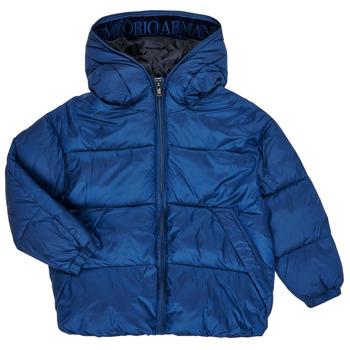 tekstylia Chłopiec Kurtki pikowane Emporio Armani 6H4BF9-1NLYZ-0975 Marine