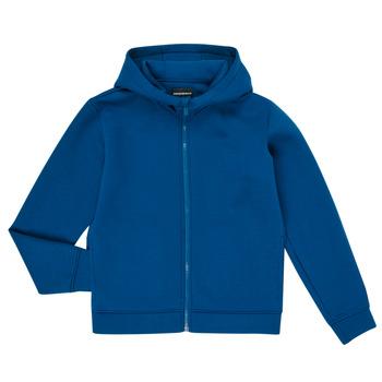 tekstylia Chłopiec Bluzy Emporio Armani 6H4BJM-1JDSZ-0975 Niebieski