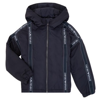 tekstylia Chłopiec Kurtki krótkie Emporio Armani 6H4BL0-1NYFZ-0920 Marine