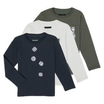 tekstylia Chłopiec T-shirty z długim rękawem Emporio Armani 6H4D01-4J09Z-0564 Wielokolorowy