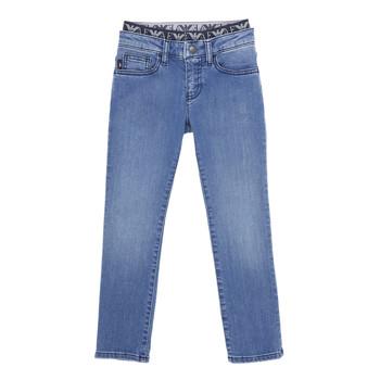 tekstylia Chłopiec Jeansy slim fit Emporio Armani 6H4J17-4D29Z-0942 Niebieski
