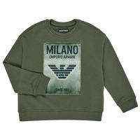 tekstylia Chłopiec Bluzy Emporio Armani 6H4MM1-4J3BZ-0564 Kaki
