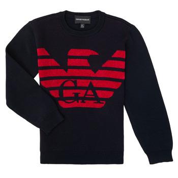 tekstylia Chłopiec Swetry Emporio Armani 6H4MTL-1MDDZ-F934 Marine