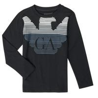 tekstylia Chłopiec T-shirty z długim rękawem Emporio Armani 6H4T17-1J00Z-0999 Czarny
