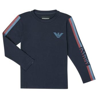 tekstylia Chłopiec T-shirty z długim rękawem Emporio Armani 6H4TJD-1J00Z-0920 Marine