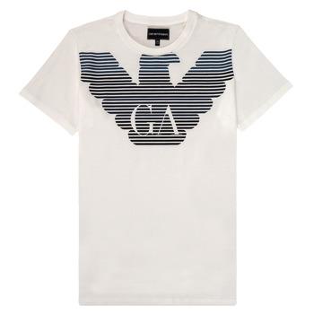 tekstylia Chłopiec T-shirty z krótkim rękawem Emporio Armani 6H4TQ7-1J00Z-0101 Biały