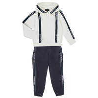 tekstylia Chłopiec Zestawy dresowe Emporio Armani 6H4V02-1JDSZ-0101 Marine / Biały