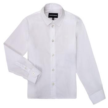 tekstylia Chłopiec Koszule z długim rękawem Emporio Armani 8N4CJ0-1N06Z-0100 Biały