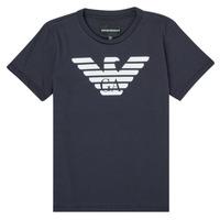 tekstylia Chłopiec T-shirty z krótkim rękawem Emporio Armani 8N4T99-1JNQZ-0939 Marine
