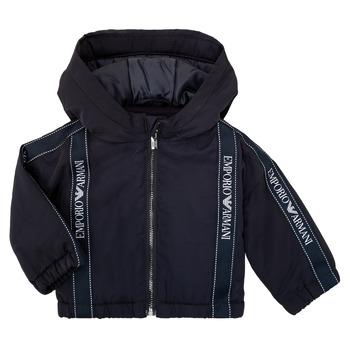 tekstylia Chłopiec Kurtki krótkie Emporio Armani 6HHBL0-1NYFZ-0920 Marine
