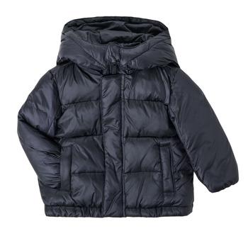 tekstylia Chłopiec Kurtki pikowane Emporio Armani 6HHBL1-1NLSZ-0920 Marine