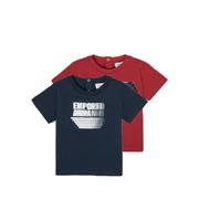 tekstylia Chłopiec T-shirty z krótkim rękawem Emporio Armani 6HHD22-4J09Z-0353 Wielokolorowy