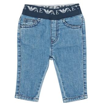 tekstylia Chłopiec Jeansy slim fit Emporio Armani 6HHJ07-4D29Z-0942 Niebieski