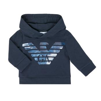 tekstylia Chłopiec Bluzy Emporio Armani 6HHMA9-4JCNZ-0922 Marine