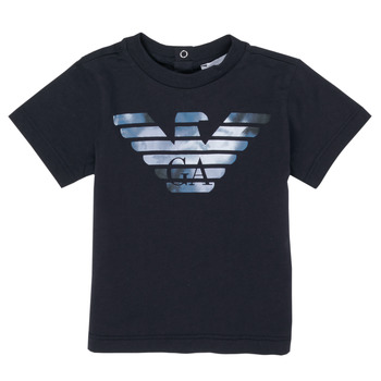 tekstylia Chłopiec T-shirty z krótkim rękawem Emporio Armani 6HHTA9-1JDXZ-0920 Marine
