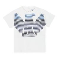 tekstylia Chłopiec T-shirty z krótkim rękawem Emporio Armani 6HHTQ7-1J00Z-0101 Biały