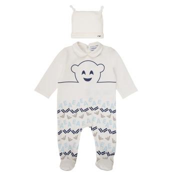 tekstylia Chłopiec Piżama / koszula nocna Emporio Armani 6HHV08-4J3IZ-0101 Biały / Niebieski