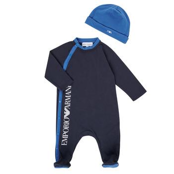 tekstylia Chłopiec Piżama / koszula nocna Emporio Armani 6HHV12-4J3CZ-0922 Marine