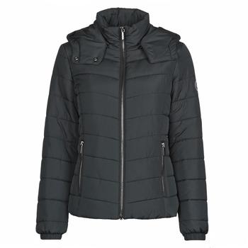 tekstylia Damskie Kurtki pikowane Armani Exchange 8NYB12 Czarny