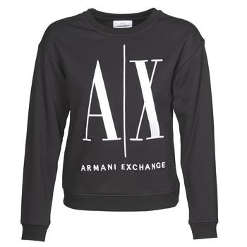 tekstylia Damskie Bluzy Armani Exchange 8NYM02 Czarny