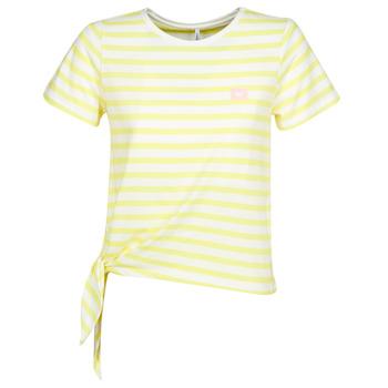 tekstylia Damskie T-shirty z krótkim rękawem Only ONLBRAVE Żółty