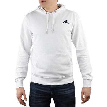 tekstylia Męskie Bluzy Kappa Vend Hooded 707390-11-0601 Białe