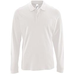 tekstylia Męskie Koszulki polo z długim rękawem Sols PERFECT LSL COLORS MEN Blanco