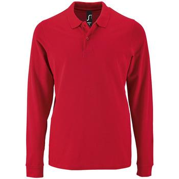 tekstylia Męskie Koszulki polo z długim rękawem Sols PERFECT LSL COLORS MEN Rojo