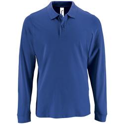 tekstylia Męskie Koszulki polo z długim rękawem Sols PERFECT LSL COLORS MEN Azul