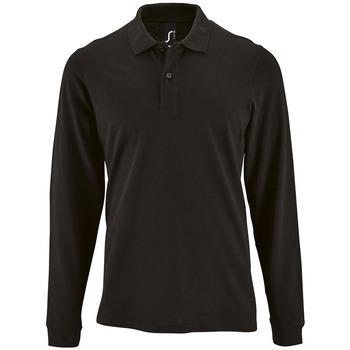 tekstylia Męskie Koszulki polo z długim rękawem Sols PERFECT LSL COLORS MEN Negro