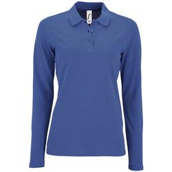 tekstylia Damskie Koszulki polo z długim rękawem Sols PERFECT LSL COLORS WOMEN Azul