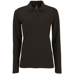 tekstylia Damskie Koszulki polo z długim rękawem Sols PERFECT LSL COLORS WOMEN Negro