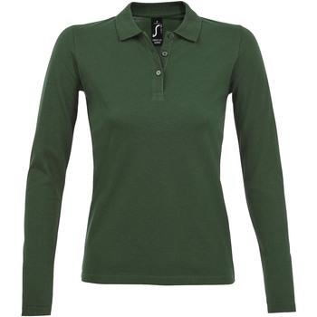 tekstylia Damskie Koszulki polo z długim rękawem Sols PERFECT LSL COLORS WOMEN Verde