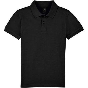 tekstylia Dziecko Koszulki polo z krótkim rękawem Sols PERFECT KIDS COLORS Negro