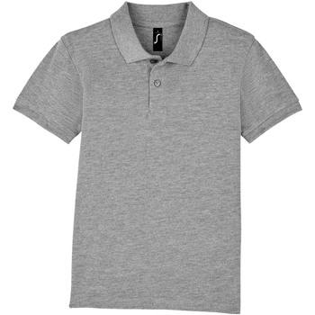 tekstylia Dziecko Koszulki polo z krótkim rękawem Sols PERFECT KIDS COLORS Gris