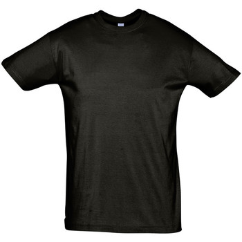 tekstylia Męskie T-shirty z krótkim rękawem Sols REGENT COLORS MEN Negro