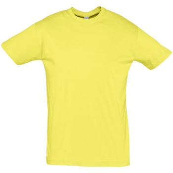 tekstylia Męskie T-shirty z krótkim rękawem Sols REGENT COLORS MEN Amarillo