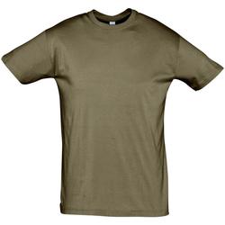 tekstylia Męskie T-shirty z krótkim rękawem Sols REGENT COLORS MEN Marrón