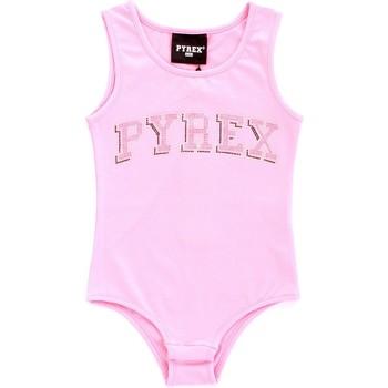 tekstylia Dziewczynka Topy na ramiączkach / T-shirty bez rękawów Pyrex 024858 Różowy