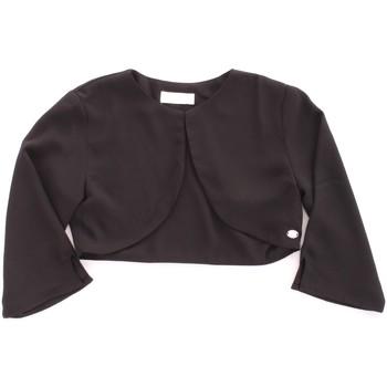 tekstylia Dziewczynka Swetry rozpinane / Kardigany Byblos Blu BJ14937 Czarny