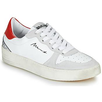 Buty Damskie Trampki niskie Meline STRA5007 Biały / Czerwony